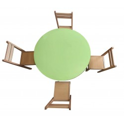 Kids Round table with four chairs wooden