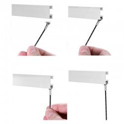 Clip Rail Cable Black White