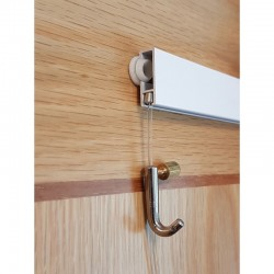 smart mini hook for cliprail picture hanging with installation