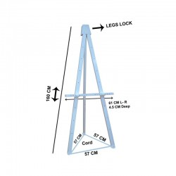 Wooden Art Easel Display Stand - White
